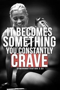 Running becomes something you constantly crave..