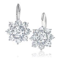 Cool HARRY WINSTON SUNFLOWER DIAMOND EARRINGS photo #Diamond #Earrings
