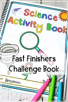 Science Challenge Activity Book for Fast Finishers Science Student, Physical Science, Science Classroom, Life Science, Student Work, Classroom Tools, Earth Science, Enrichment Activities, Science Activities
