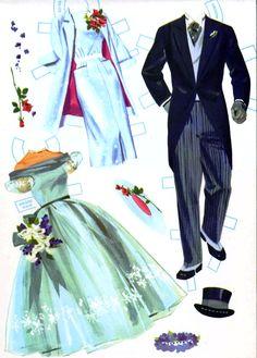 heavenly blue wedding paper dolls fashions
