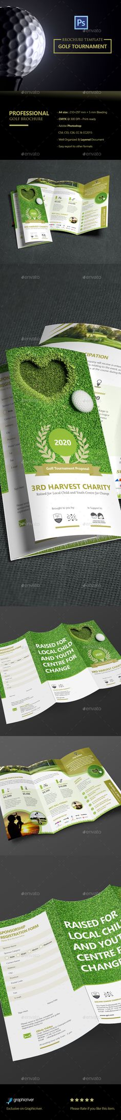 Golf Flyer \/ Golf Tournament (2 in 1) Print templates, Golf and - golf tournament brochure
