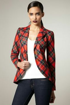 3c4eaa9852b7 Smythe Elbow Patch plaid blazer -- I need some more plaid in my life!