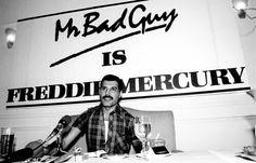 1985 - Mr Bad Guy album launch press conference.