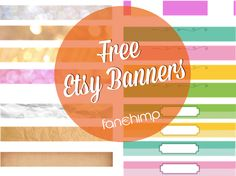 Free #Etsy Banner for Your #Shop and How to Customize Them