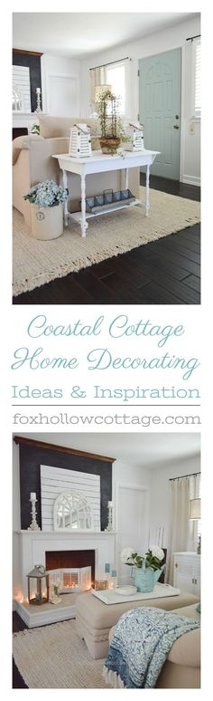 Look Over This Home decorating ideas with coastal, cottage-farmhouse style and vintage touches www.foxhollowcott… The post Home decorating ideas with coastal, cottage-farmhouse style and vintage tou ..