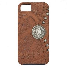 tooled leather iphone case | ... South West Old Tooled Leather Look Star iPhone 5 Case from Zazzle.com