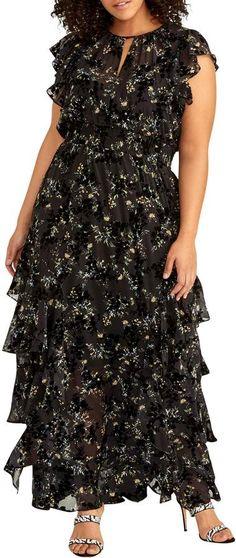Rachel Roy Plus Size Issa Ruffled Maxi Dress Issa Dresses, Plus Size Maxi Dresses, Formal Dresses, Rachel Roy, Review Dresses, Trendy Plus Size, Floral Maxi Dress, Dream Dress, Plus Size Fashion