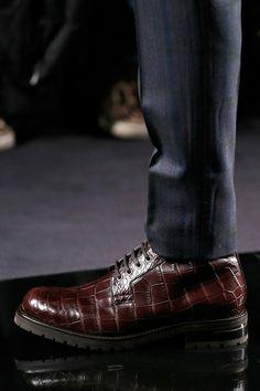 ♂ Masculine & elegance man's fashion shoes brown Louis Vuitton Fall 2013 Menswear