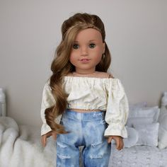 American Girl Doll Gymnastics, Custom American Girl Dolls, American Girl Doll Pictures, American Girl Crafts, American Girl Clothes, Girl Doll Clothes, Doll Clothes Patterns, American Dolls, Ag Doll Hairstyles