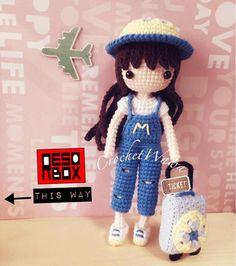 Doll Amigurumi Free Pattern, Crochet Dolls Free Patterns, Cat Amigurumi, Crochet Doll Pattern, Doll Patterns, Free Crochet, Crochet Hedgehog, Baby Dolls, Charts