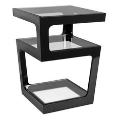 Triple level side table black from Dwell | Best side tables | housetohome.co.uk