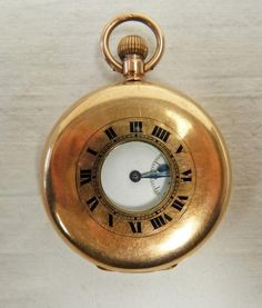 Taylors Auctions : 9CT GOLD HALF HUNTER POCKET WATCH : Online Auction Catalogue