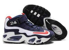 fbaddb4a9396d1 Women Ken Griffey Jr Shoes White Navy Blue Ken Griffey