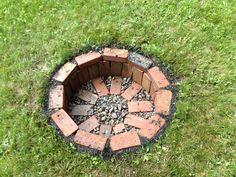 Easy DIY Brick Fire Pit