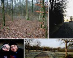 """Einen schönen Tag im Wald verbracht. Die Vorbereitungen für das Outdoorevent """"Winterspaziergang"""" laufen."""