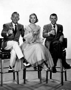 Bing Crosby, Grace Kelly and Frank Sinatra