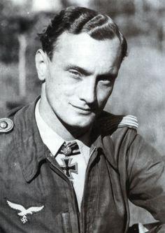 "✠ Josef ""Sepp"" Wurmheller (4 May 1917 – 22 June 1944) RK 04.09.1941 Oberfeldwebel Flugzeugführer i. d. 5./JG 2 + 14.11.1942 [146. EL] Leutnant (Kr.O.) Flugzeugführer i. d. 1./JG 2 + 24.10.1944 [108. Sw] Hauptmann Kdr III./JG 2 He and his wingman were killed in a mid-air collision during combat near Alençon, France."