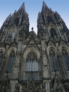 "Cathedral in Cologne, Germany #Europe #Travel ~ With all the beauty built into magnificent churches, temples -  God Word says: ""What agreement does God's temple have with idols?""2 Corinthians 6:16 He ""sits down in the temple of The God, publicly showing himself to be a god....This ""one will be revealed...and brought to nothing by the manifestation of his (Christ's) presence"" 2 Thessalonians 2:4,8"