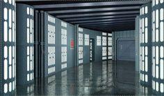 corridor Spaceship Interior, Futuristic Interior, Star Wars Birthday, Star Wars Party, Maquette Star Wars, Science Fiction, Star Wars Halloween, Star Wars Room, And So It Begins