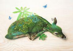 New Surreal Wildlife Paintings by Tiffany Bozic