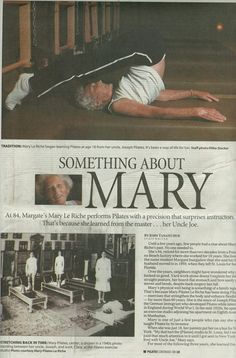Something About Mary... She is the niece of Joseph Pilates. Look at her in the rollover position!!!