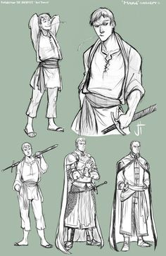 TA Marn character concepts by ElementJax clothing looks lose fitting