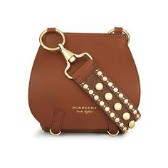 Studded strap leather shoulder bag ($2,845) ❤ liked on Polyvore featuring bags, handbags and shoulder bags