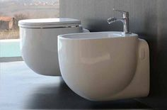 Pozzi Ginori 500 vaso sospeso con scarico a pavimento 41351, bidet sospeso per rubinetteria monoforo e allacciamento…