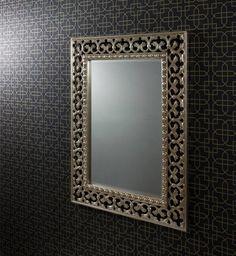 The Bali Silver Wall Mirror :: Room Beautiful