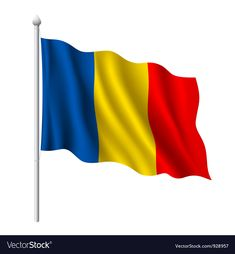 Flag of Romania vector image on VectorStock Good Morning Flowers Quotes, Romanian Flag, Romania Map, Dance Vector, Cartoon Font, Merry Christmas Vector, Flag Background, Flag Icon, Flag Vector