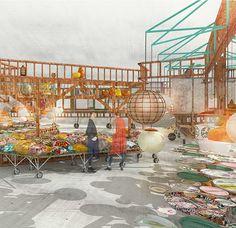 izaskun chinchilla - Buscar con Google Sala Vip, Architecture Graphics, Architecture Visualization, Slums, Urban Planning, Photomontage, Fair Grounds, Graphic Design, Gallery