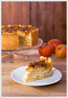 """Apple Cake with Almond """"Bee-Sting"""" Topping"""