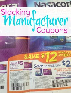 Did you see this??? The rules on Stacking Manufacturer Coupons may be changing! Sunday's coupon inserts had Manufacturer Coupons that are meant to be stacked! I don't know how this will play out with all the coupon policies that say 1 manufacturer coupon per item, but this is an interesting twist in the world of couponing :)