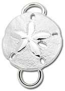 Sterling Silver Sand Dollar Charm/Clasp for a Cape Cod Convertible Bracelet by LeStage.