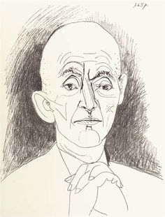 Pablo Picasso, Portrait of D.H. Kahnweiler I, II, and III (M. 295-7; B. 834-6)