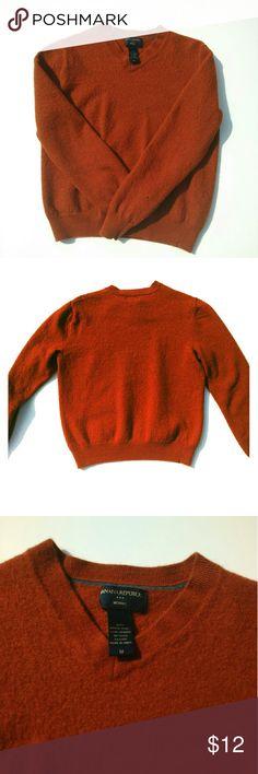 Banana Republic Merino wool sweater Burnt orange 100% Merino wool sweater. Sits slightly above waist. Good condition! Banana Republic Sweaters