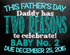 Farther's Day Themed Chalkboard Pregnancy by MMasonDesigns on Etsy