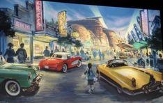 Walt Disney Imagineering, Grand Ca, Walt Disney Company, Cars Land, Disney Concept Art, Disney California Adventure, Historical Images, Haunted Mansion, Indiana Jones