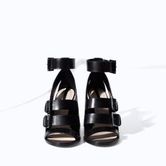 ZARA - NEW THIS WEEK - HIGH HEEL LEATHER SANDAL WITH BUCKLE
