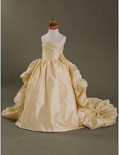 MERTICE - Vestido de Florista de Tafetán - MXN $ 1,690.83
