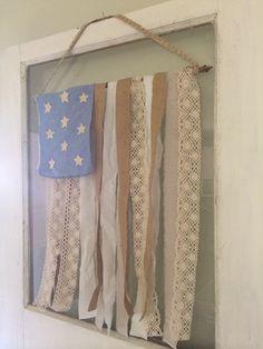 Little Farmstead ~ Farmhouse Fabric Strip Flag DIY