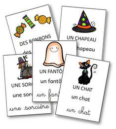 French Halloween Flashcards: référentiel Halloween