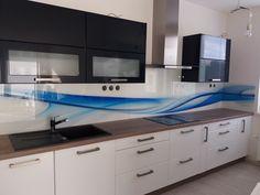 Grafosklo za kuchyňskou linku - modrá Abh, Double Vanity, Bathroom, Design, Washroom, Full Bath, Bath, Bathrooms