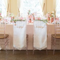 Wifey And Hubby Embroidered Chair Banner Set One Perfect Day Wedding Linen