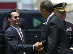 Marc Anthony and President Obama in Puerto Rico