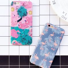 Lindo animal de la historieta flamingo avestruz caso para iphone 6 6 s teléfono casos de lujo imd cubierta trasera para apple iphone 6 s plus 6 más Capa