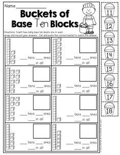 Buckets of Base Ten Blocks (cut and paste)!