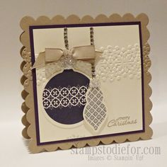 Handstamped card idea for Christmas, using the Big Shot and Stampin' Up! products