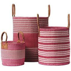 Serena & Lily Huntington Baskets Strawberry Large (€165) ❤ liked on Polyvore featuring home, home decor, small item storage, decor, baskets, colorful woven baskets, colorful baskets, strawberry baskets, handmade baskets and woven basket