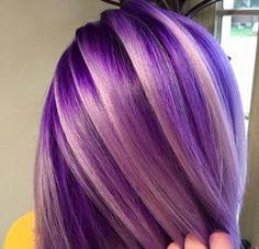 33 trendy ombre hair color ideas of 2019 - Hairstyles Trends Hair Color Purple, Cool Hair Color, Hair Colors, Colours, Purple Ombre, Coloured Hair, Crazy Hair, Rainbow Hair, Love Hair